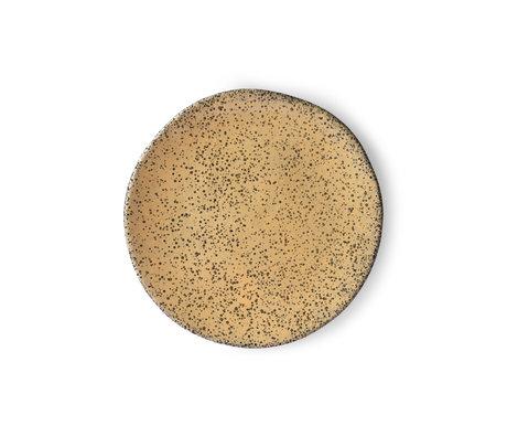 HK-living Breakfast plate Gradient peach brown orange ceramic 22.5x22.5x1.5cm ⌀ 22.5