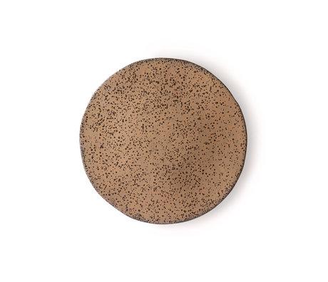 HK-living Breakfast plate Gradient taupe dark gray ceramic 22.5x22.5x1.5cm ⌀ 22.5