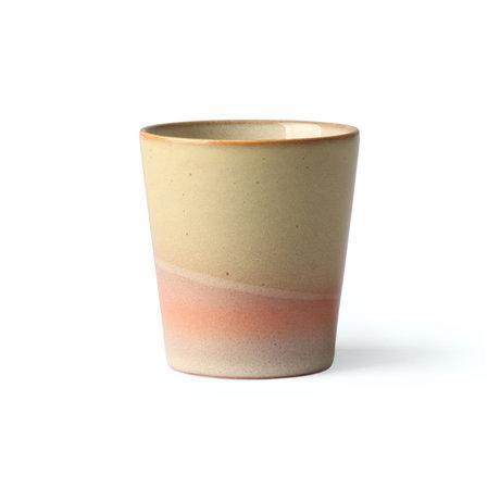 HK-living 70er Jahre Becher Venus mehrfarbig Keramik 7,5x7,5x8cm