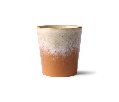HK-living 70er Jahre Becher Jupiter mehrfarbig Keramik 7,5x7,5x8cm