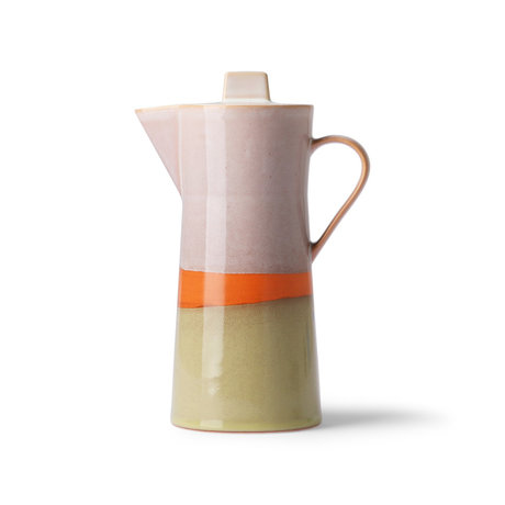 HK-living Koffie pot 70's multicolour keramiek 10x10x23