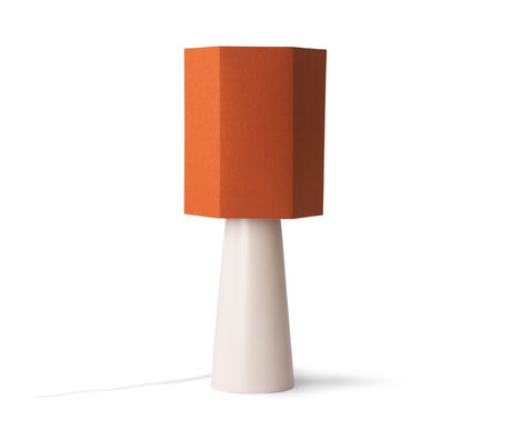 HK-living Lampenkap Hexogon M oranje jute 27x27x31,5cm