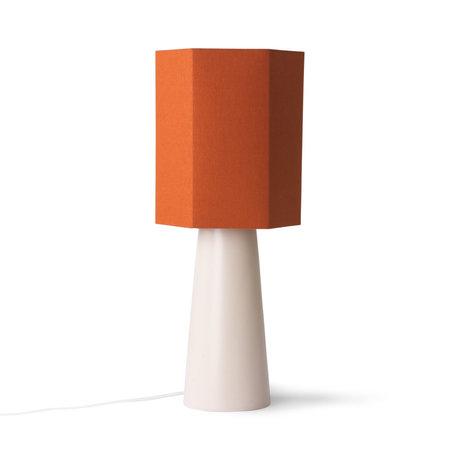 HK-living Lampshade Hexogon M orange burlap 27x27x31.5 cm