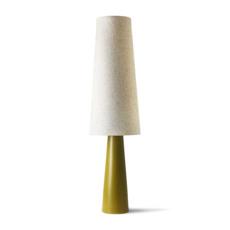 HK-living Lampe à cône Retro XL vert crème en céramique 40x40x140cm