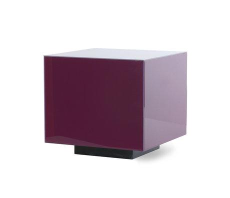 HK-living Table basse Mirror Block violet M verre MDF 40x40x40 cm