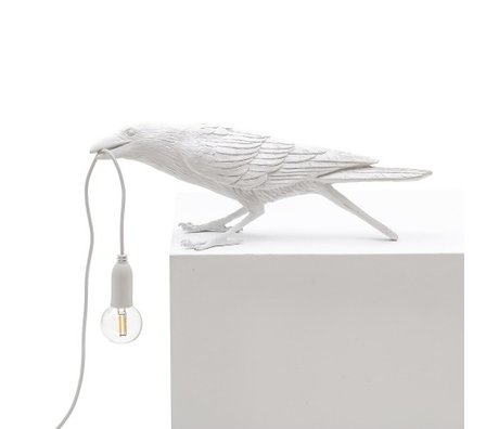 Seletti Table lamp Bird playing white outdoor 33.5x11.5x10.5 cm