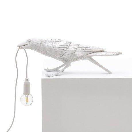Seletti Tischlampe Vogelspiel weiß im Freien 33,5x11,5x10,5 cm