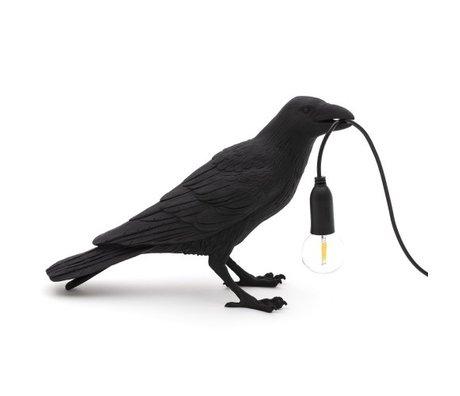 Seletti Lampe de table Bird attendant noir extérieur 29.5x12x18.5cm