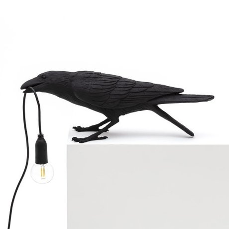 Seletti Table lamp Bird playing black outdoor 33.5x11.5x10.5 cm