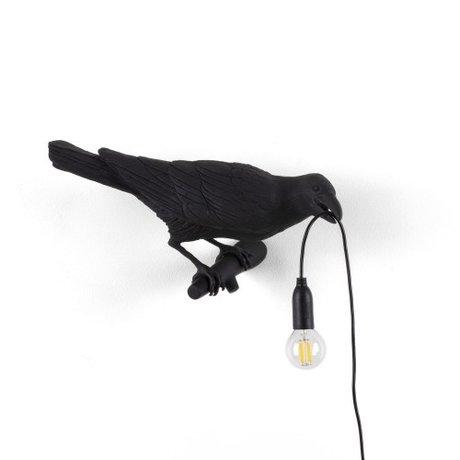 Seletti Wandleuchte Bird Looking rechts schwarz außen 32,8x14,5x12,3cm