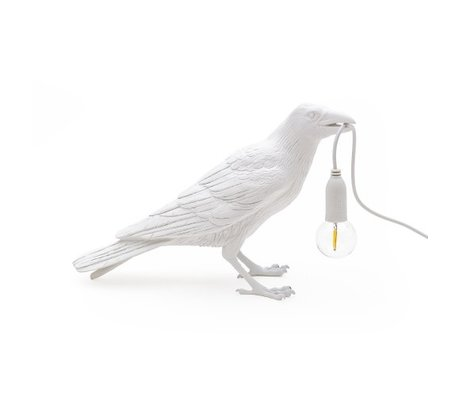 Seletti Bird waiting table lamp white 33.5x11.5x10.5cm