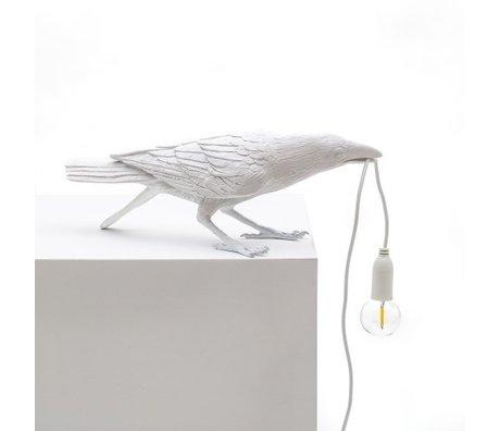 Seletti Lampe de table Oiseau jouant blanc 33,5x11,5x10,5 cm