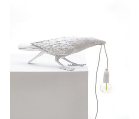 Seletti Table lamp Bird playing white 33.5x11.5x10.5 cm