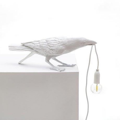 Seletti Tischlampe Vogelspiel weiß 33,5x11,5x10,5 cm