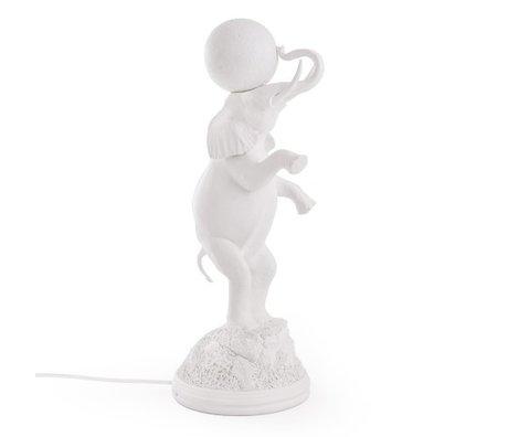 Seletti Lampe de table Elephant blanc 21,5x55,5cm