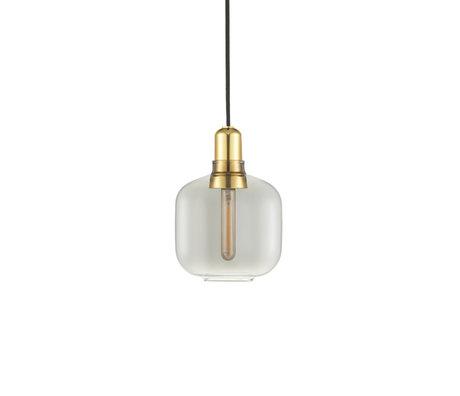 Normann Copenhagen Hängelampe Amp Gold Rauchglas Metall S Ø14x17cm