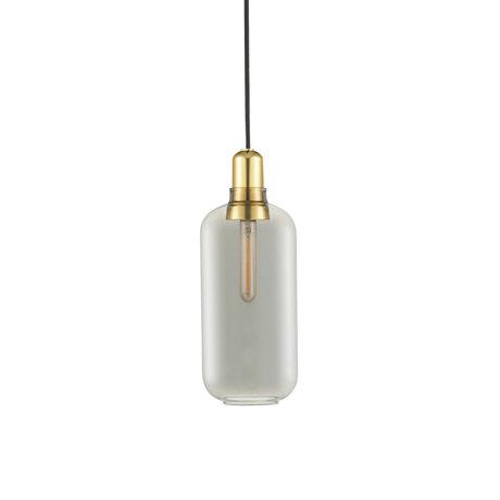 Normann Copenhagen Ampoule à suspension amp verre doré fumé métal L Ø11,2x26cm