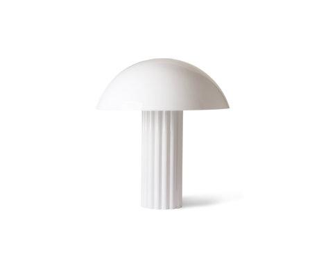 HK-living Lampe de table Cupola verre acrylique blanc 56x56x61.3cm