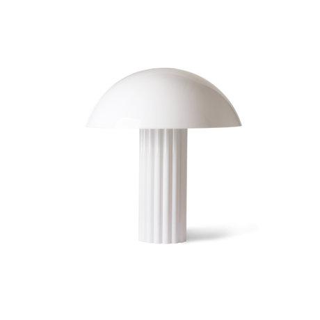 HK-living Tischleuchte Cupola aus weißem Acrylglas 56x56x61,3cm