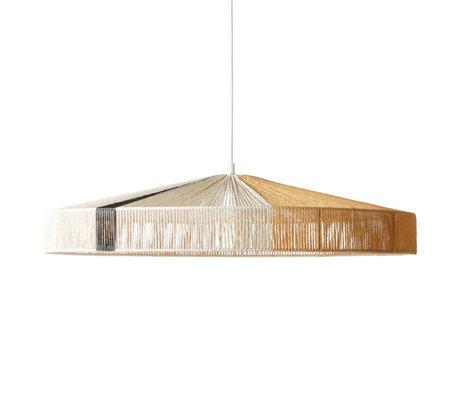 HK-living Lampe suspendue avec câble en papier multicolore corde 70x70x15cm