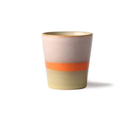 HK-living Mug 70's Saturn multicolore céramique 7,5x7,5x8cm
