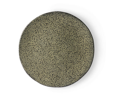 HK-living Essteller Steigungsgrün Keramik 29x29x1,7 cm ⌀ 29