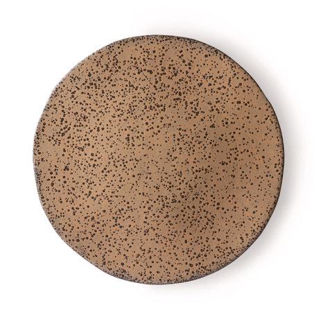 HK-living Essteller Gradient taupe dunkelgrau Keramik 29x29x1.7cm ⌀ 29