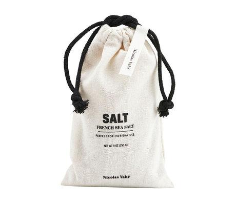 Nicolas Vahe Salt in bag of cream black fabric