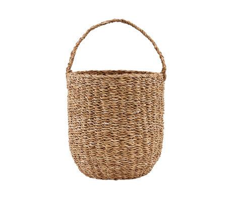 Nicolas Vahe Basket brown seagrass Ø24x27cm