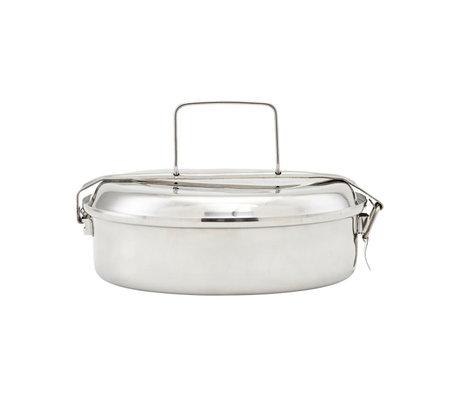 Nicolas Vahe Lunchbox zilver roestvrij staal Ø20x7cm