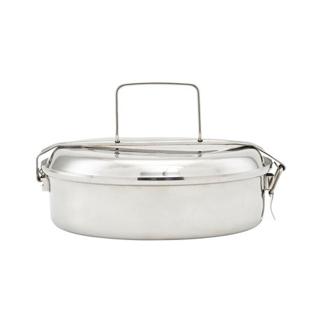 Nicolas Vahe Lunch box silver stainless steel Ø20x7cm