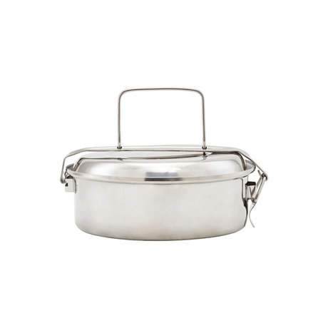 Nicolas Vahe Lunch box silver stainless steel Ø16x7cm