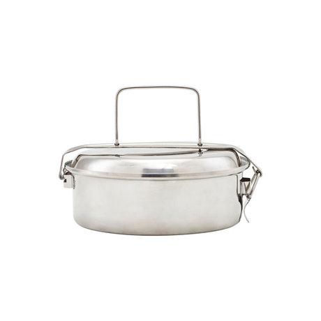 Nicolas Vahe Lunchbox zilver roestvrij staal Ø16x7cm