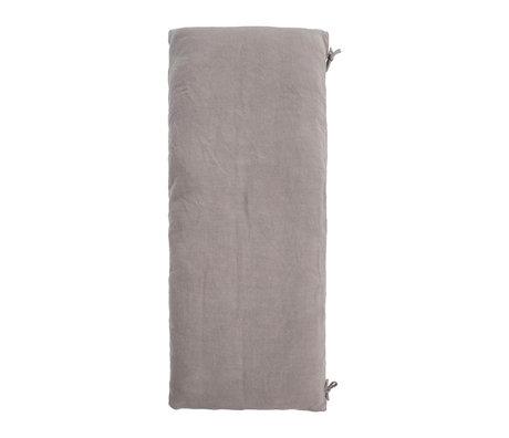 Housedoctor Matrashoes Alba licht grijs katoen 181x72cm