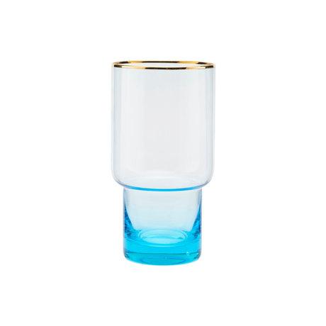 Housedoctor Glass of Indora light blue glass Ø8.5x16cm