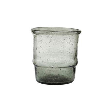 Housedoctor Waxinelichthouder Jeema grijs glas Ø6,5x7cm