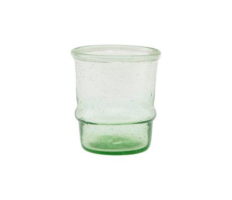 Housedoctor Photophore Jeema verre vert clair Ø6,5x7,5cm