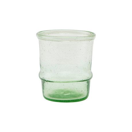 Housedoctor Waxinelichthouder Jeema licht groen glas Ø6,5x7,5cm