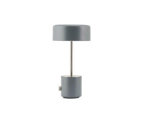 Housedoctor Tafellamp Bring antiek grijs staal Ø18x34cm