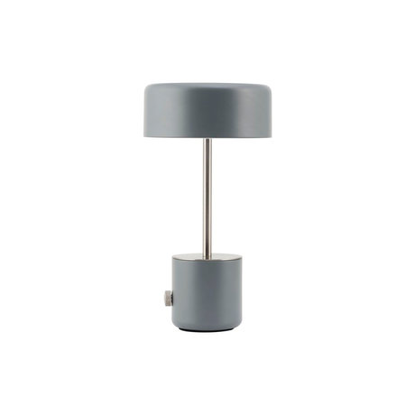 Housedoctor Tischlampe Bringen Sie antiken grauen Stahl Ø18x34cm
