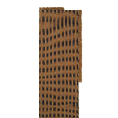 Ferm Living Loper Way textile marron 70x180cm