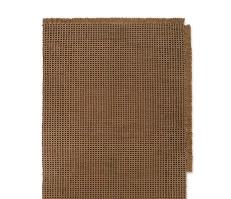Ferm Living Teppich Way braun Textil 140x200cm