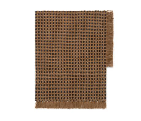 Ferm Living Mat Way brown textile 70x50cm