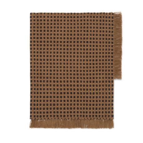Ferm Living Mat Way bruin textiel 70x50cm
