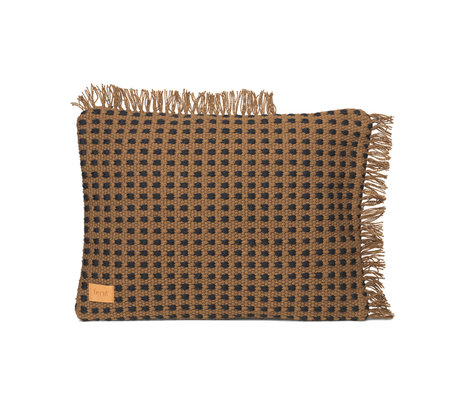 Ferm Living Kussen Way bruin textiel 70x50cm