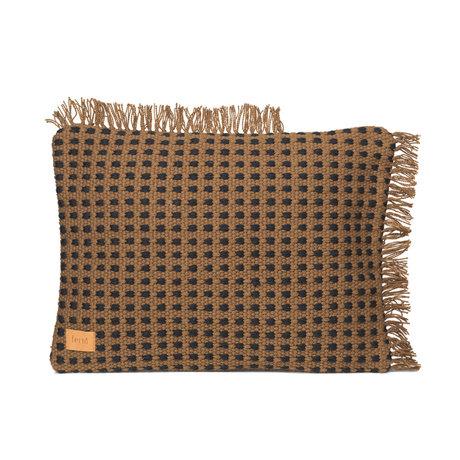 Ferm Living Coussin Way textile marron 70x50cm