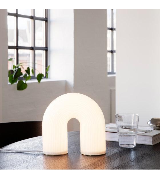 Tafellamp Vuelta wit opaalglas 21,4x8,4x21,6cm