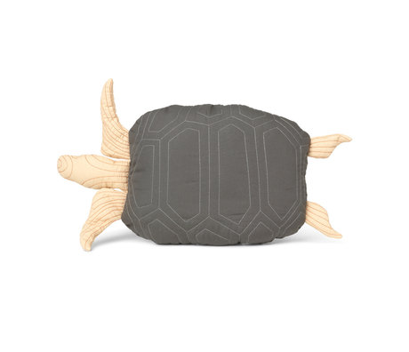 Ferm Living Kussen Turtle groen katoen 27x50cm