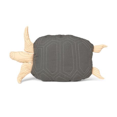 Ferm Living Kissen Schildkröte grüne Baumwolle 27x50cm