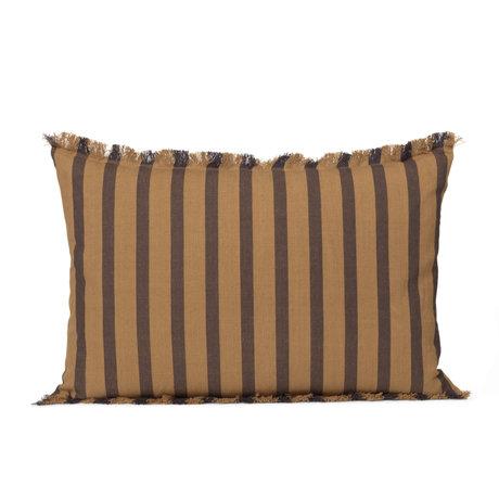 Ferm Living Oreiller True brown cotton 60x40cm